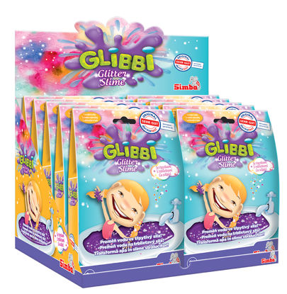 Obrázek Glibbi Glitter Slime sliz fialový třpytivý do vody