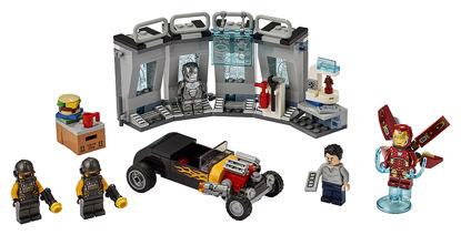 Obrázek LEGO Super Heroes 76167 Zbrojnice Iron Mana