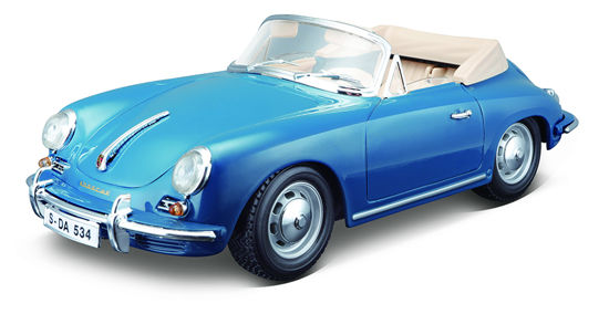 Obrázek z Bburago 1:18 Porsche 356B Cabriolet 1961 Blue