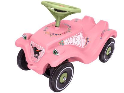 Obrázek Auto odstrkovadlo BIG BOBBY CAR CLASSIC růžové s kytičkami