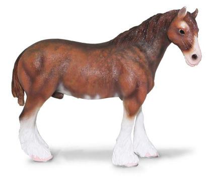 Obrázek Clydesdaleský kůň tmavý hnědák