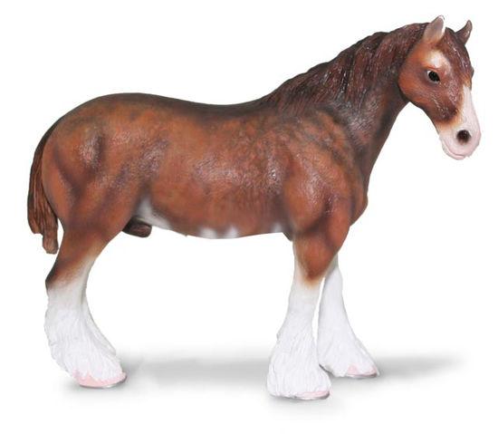 Obrázek z Clydesdaleský kůň tmavý hnědák
