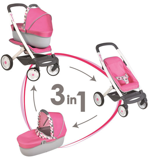 Obrázek z Kombinovaný kočárek Maxi Cosi pro panenky růžový