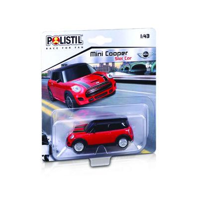 Obrázek Polistil Mini Cooper Slot car 1:43 červené