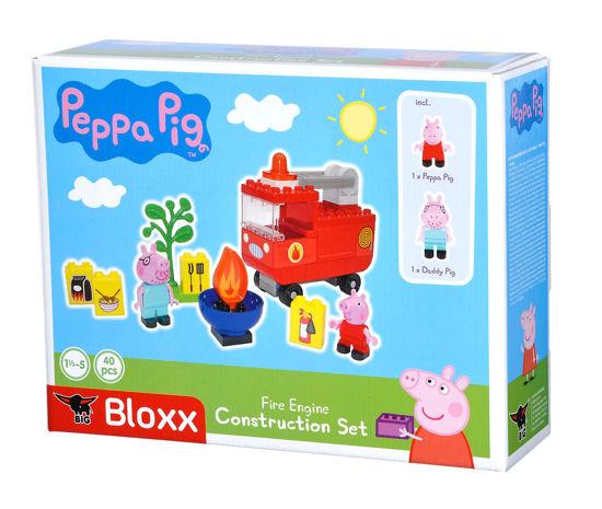 Obrázek z PlayBig BLOXX Peppa Pig Hasičské auto s příslušenstvím