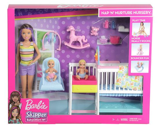 Obrázek z Barbie CHŮVA S POSTÝLKOU herní set