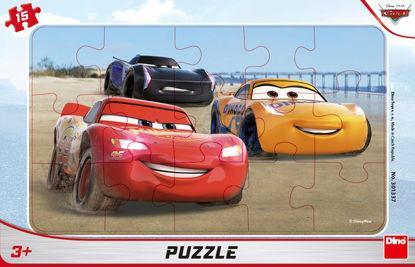 Obrázek CARS ZÁVODÍ 15 deskové Puzzle