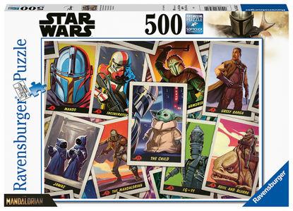"""Obrázek Puzzle The Mandalorian - """"Baby Yoda"""" 500 dílků"""