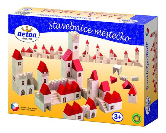 Obrázek z Stavebnice dřevěná městečko