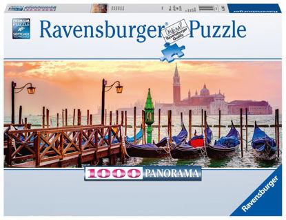 Obrázek Gondoly v Benátkách puzzle 1000 dílků Panorama