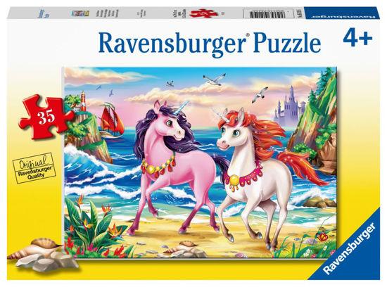 Obrázek z Plážoví jednorožci puzzle 35 dílků
