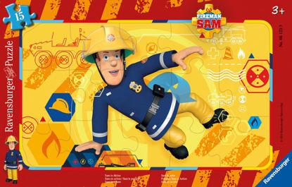 Obrázek Požárník Sam v akci puzzle 15 dílků