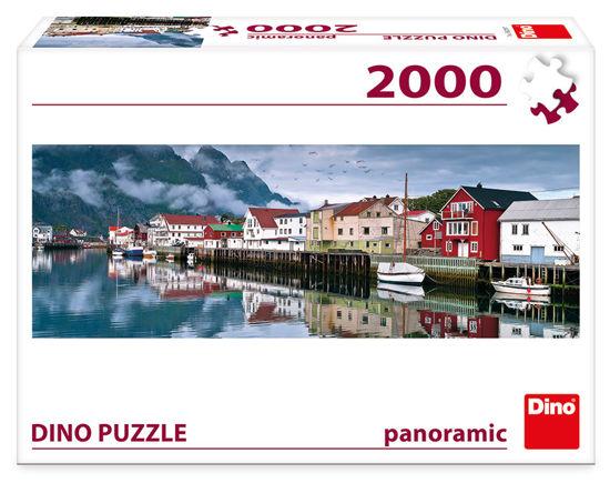 Obrázek z Puzzle RYBÁŘSKÁ VESNICE 2000 panoramic NOVÉ