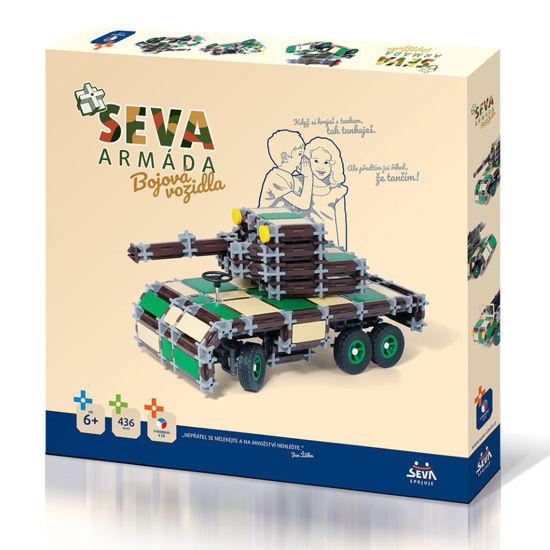 Obrázek z SEVA ARMÁDA stavebnice - bojová vozidla