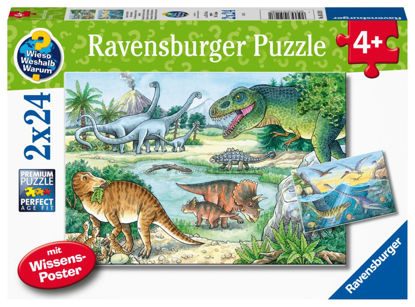 Obrázek Dinosauři 2x24 dílků puzzle