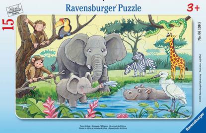 Obrázek Africká zvířata puzzle 15 dílků
