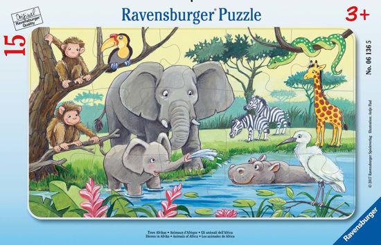 Obrázek z Africká zvířata puzzle 15 dílků