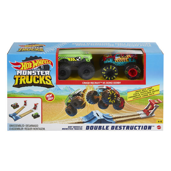 Obrázek z Hot Wheels MONSTER TRUCKS DVOJITÁ DESTRUKCE herní set