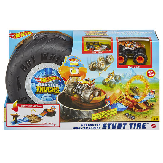 Obrázek z Hot Wheels MONSTER TRUCKS KASKADÉRSKÉ KOUSKY herní set