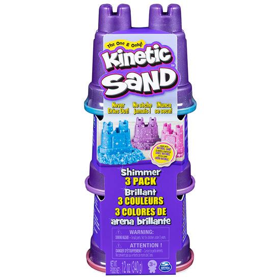 Obrázek z KINETIC SAND balení 3 kelímků pastelových barev