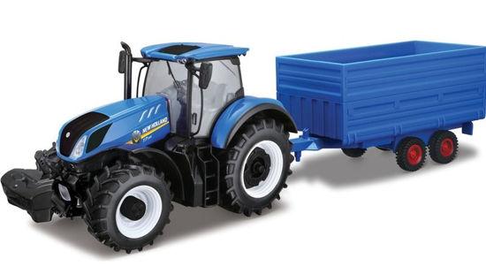 Obrázek z Bburago 1:32 Farm Traktor New Holland s vlečkou na seno