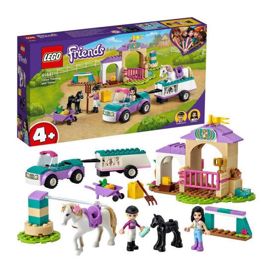 Obrázek z LEGO Friends 41441 Auto s přívěsem a výcvik koníka
