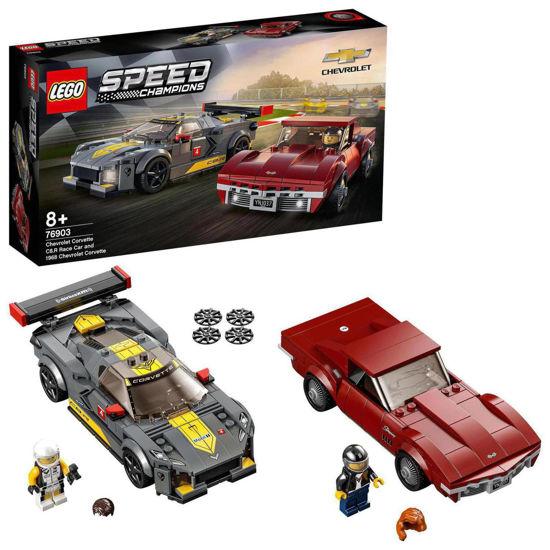 Obrázek z LEGO Speed 76903 Chevrolet Corvette C8.R a 1968 Chevrolet Corvette