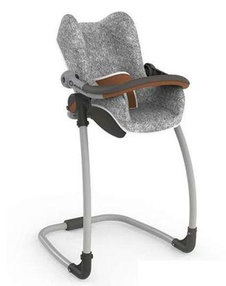 Obrázek 3v1 Autosedačka a židlička MC&Q pro panenky šedá