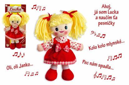 Obrázek Bábika Lucka handrová plyš, slovenský spievajúci