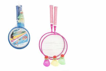 Obrázek Badminton sada dětská kov/plast 2 pálky + 3 košíčky