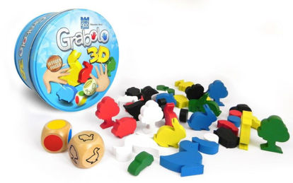 Obrázek Grabolo 3D společenská hra dřevo v plechové krabičce