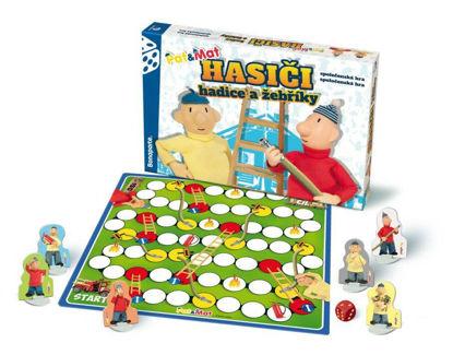 Obrázek Hasiči- hadice a žebříky Pat a Mat,  společenská hra