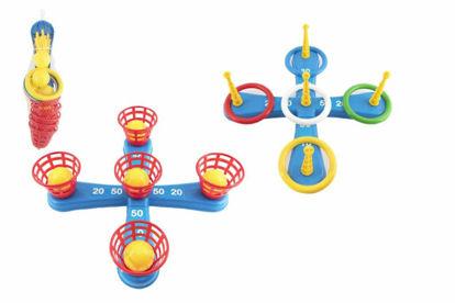 Obrázek Házecí hra plast kříž s kruhy + košíčky s míčky