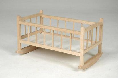 Obrázek Kolébka pro panenky dřevěná