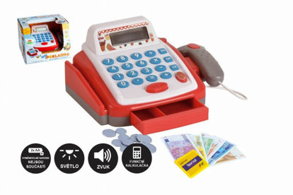 Obrázek Pokladna dětská malá digitální s doplňky  se zvukem a světlem