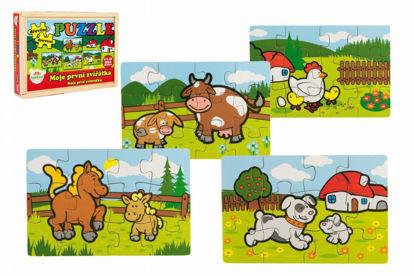 Obrázek Puzzle dřevěné Moje první zvířátka