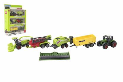 Obrázek Sada farma - zemědělské stroje s příslušenstvím kov/plast mix druhů