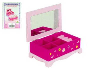 Obrázek Skříňka šperkovnice Princess se  zrcadlem